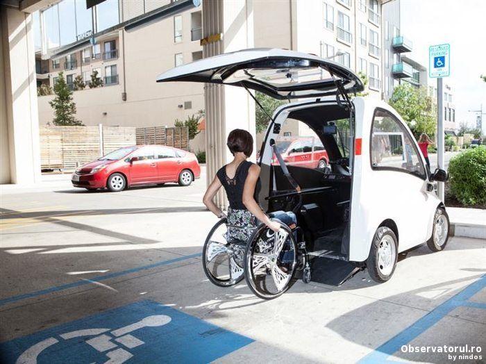 Kenguru, o masina special construita pentru persoanele in scaun rulant