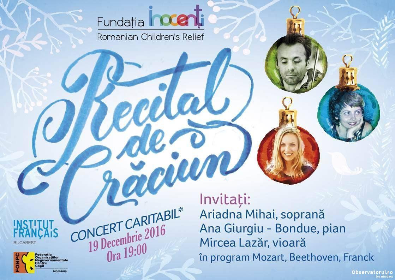 Recital de craciun in sprijinul copiilor Inocenti