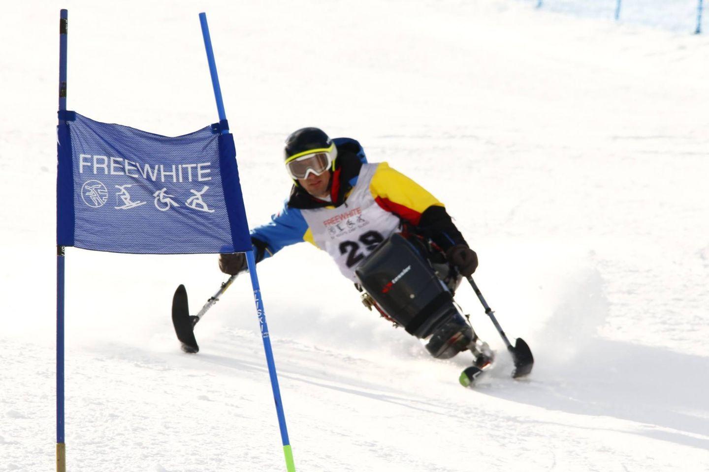 Ionel Lungu, monoschiorul in scaun rulant care se antreneaza in Europa si concureaza pentru Romania