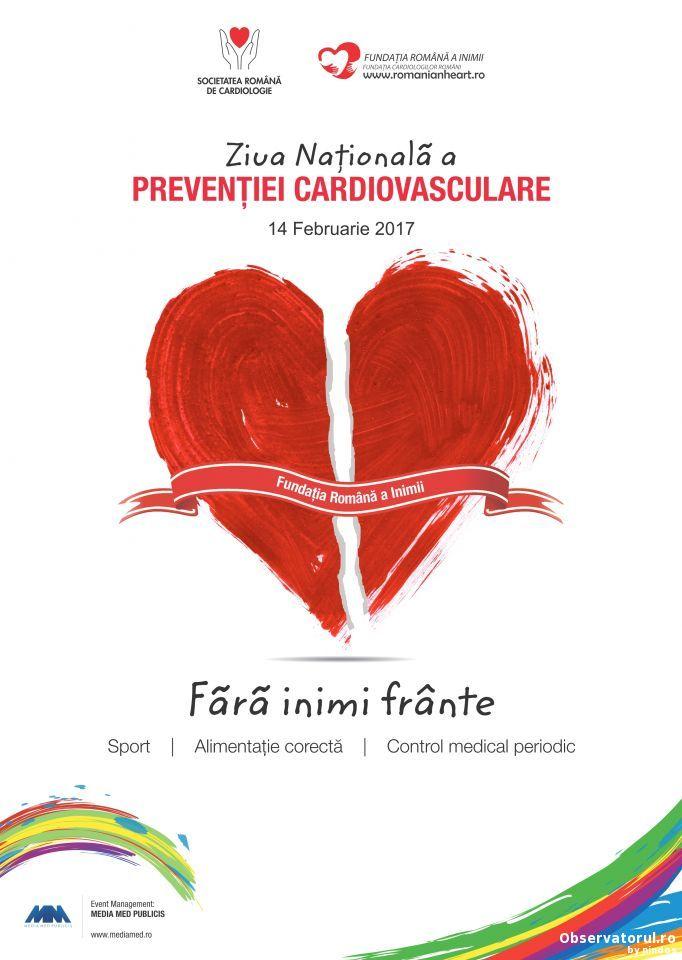 14 februarie, Ziua Nationala a Preventiei Cardiovasculare