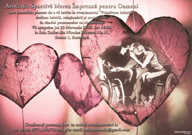 Primavara Iubirii, eveniment dedicat persoanelor cu dizabilitati