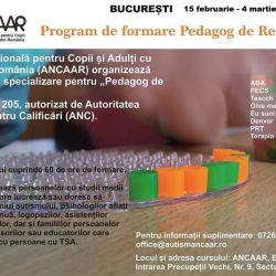 Program de formare Pedagog de recuperare ANCAAR