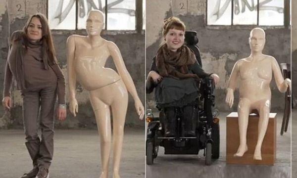 Manechinele cu dizabilitati schimba perspectiva vietii