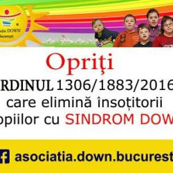 Opriti eliminarea dreptului la insotitor a copiilor cu sindrom Down